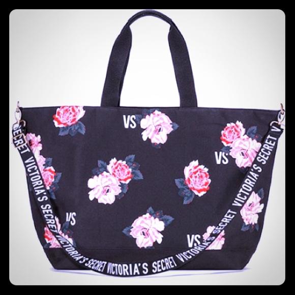 327b663984b5 Victoria s Secret Weekender Floral Tote Bag NWT